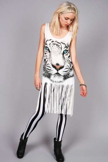 Tiger Fringe Tunic