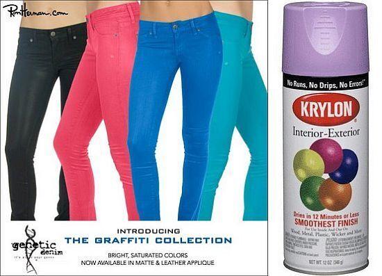 Spray-On Jeans