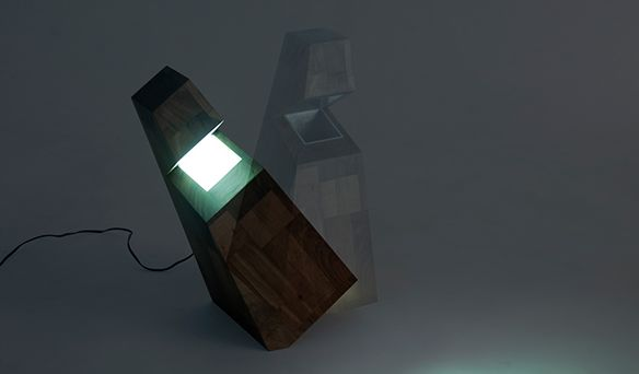 Tilted Table Lamps