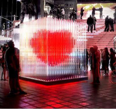 Times Square Heart Sculpture