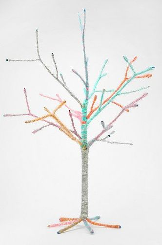Spindly Yarn-Wrapped Trees
