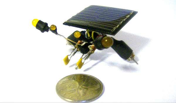 Tiny Solar-Powered Robots