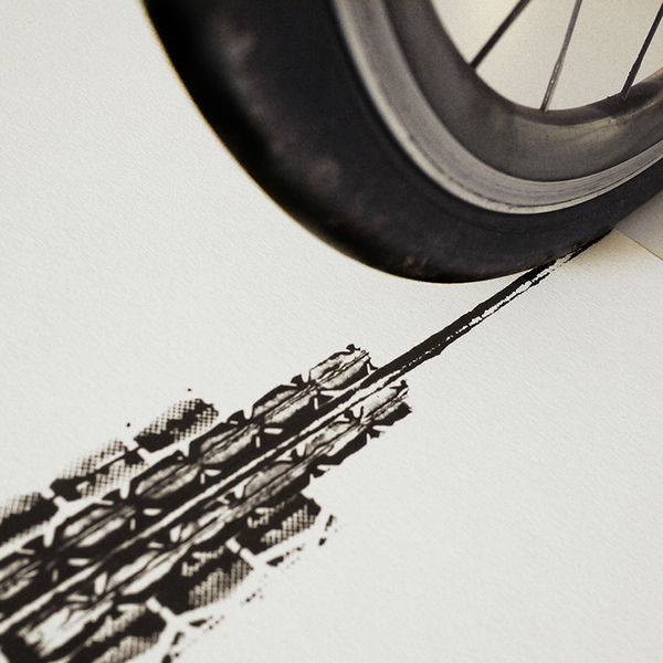 Tire Track Art Prints