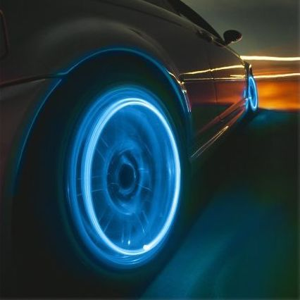 Luminescent Tire Caps