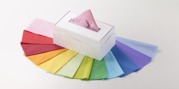 Decadent Rainbow-Hued Tissues