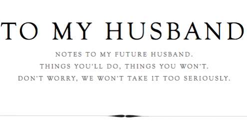 To My Husband Tumblr