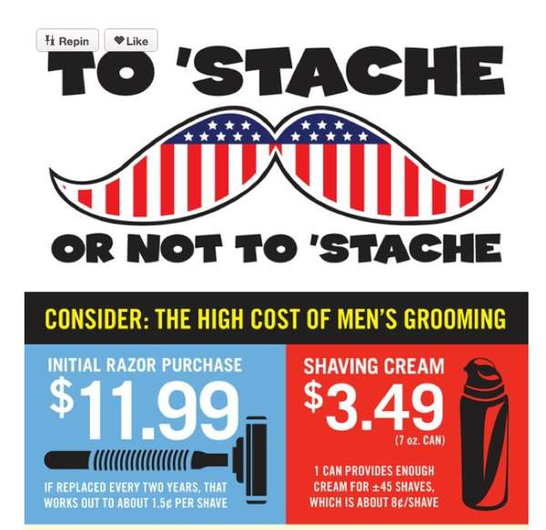 To Stache or Not to Stache' Infographic