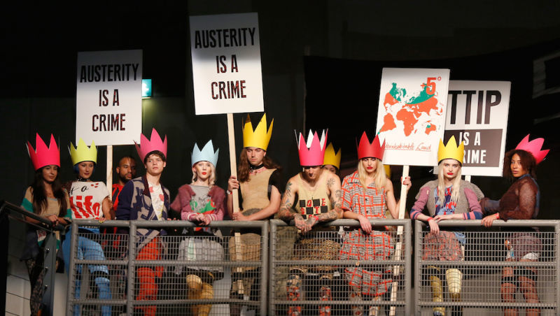 Runway-Inspired Political Protests