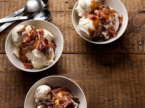 Boozy Bacon Ice Creams