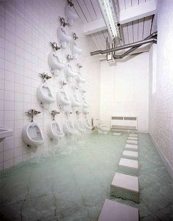 Urinal Waterfalls