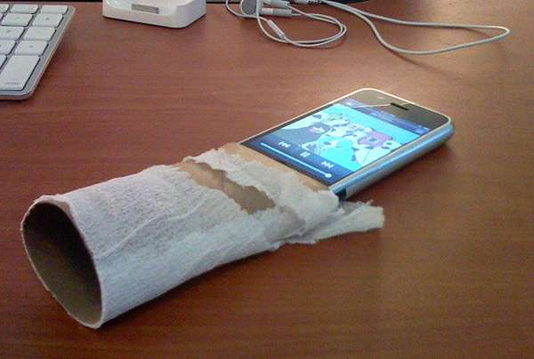 toilet roll iPhone amplifier
