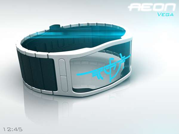 Transparent Digital Timepieces