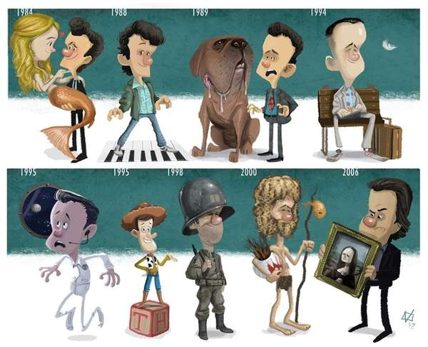 Celebrity Tribute Illustrations
