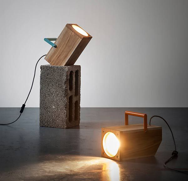 Wooden Stump Table Lamps