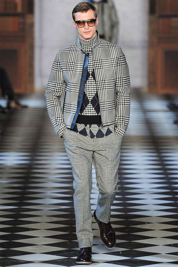 Layered Houndstooth Runways