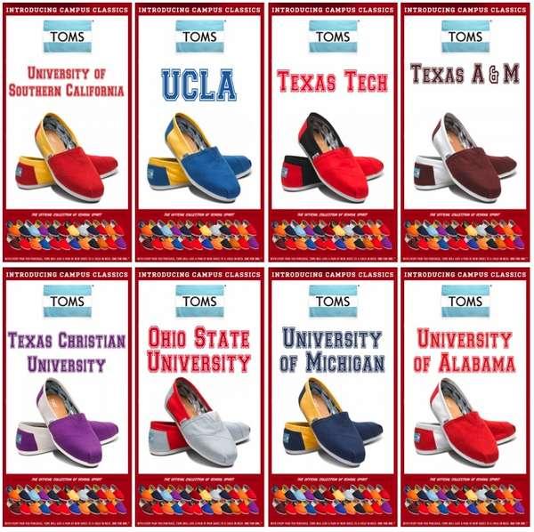 Collegiate-Inspired Slip-on Sneakers