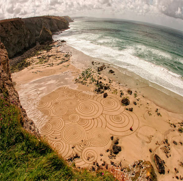 Swirling Sand Drawings