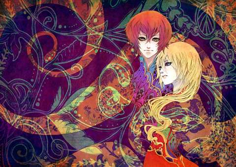 Sensual Multihued Anime Art