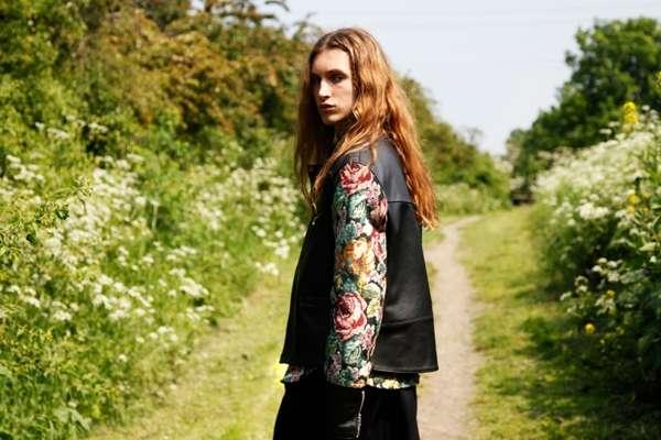 Androgynous Floral Print Fashion