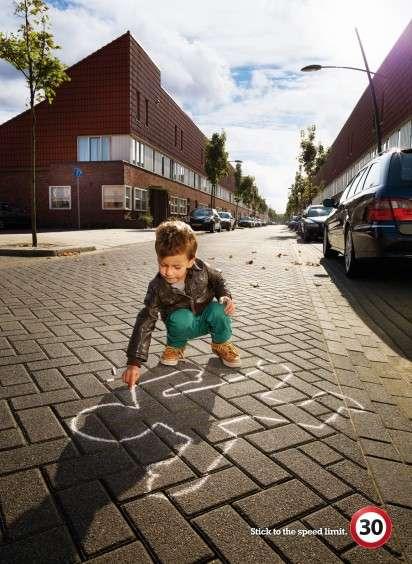 Cautionary Sidewalk Chalk Art