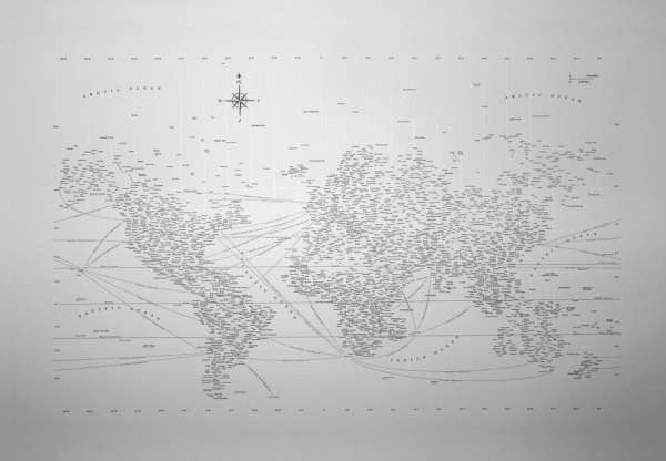Typographic World Maps