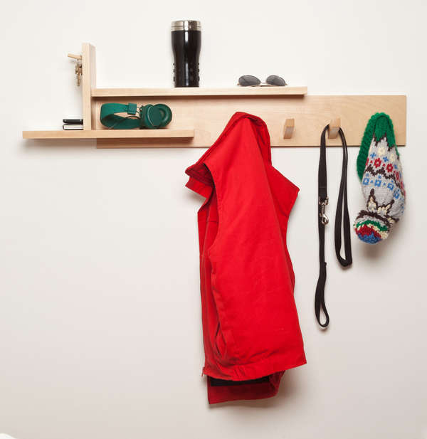 Constructivist Timber Coat Hooks