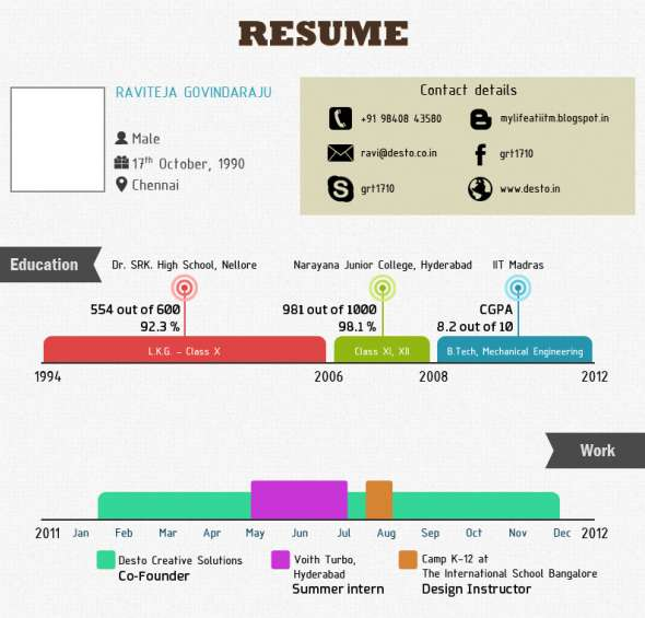 Visual Resume Infographics