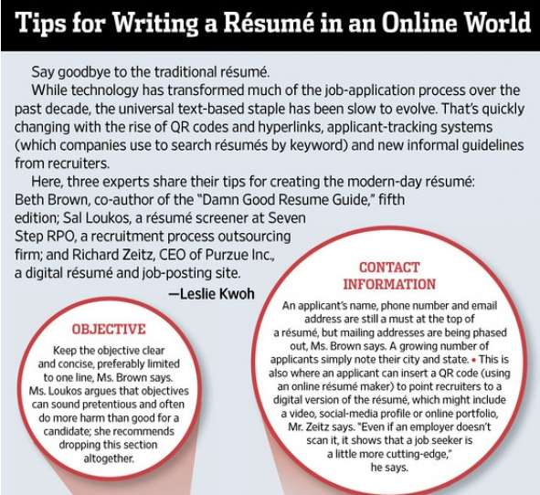 Online Resume Infographics