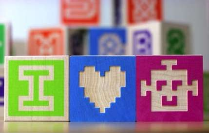 Pixel-Inspired Building Blocks