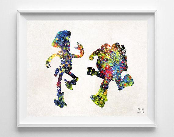Watercolor Pixar Paintings