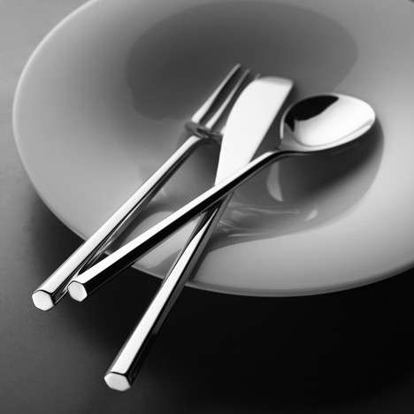 Hexagonal Serving Utensils