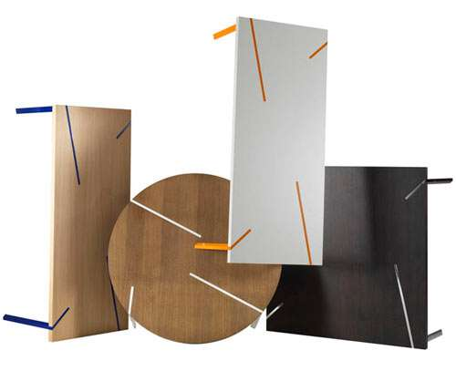 Asymmetrically-Lined Furniture