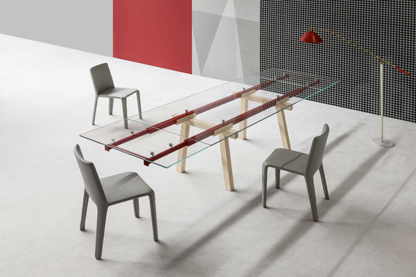 Train Track-Inspired Tables