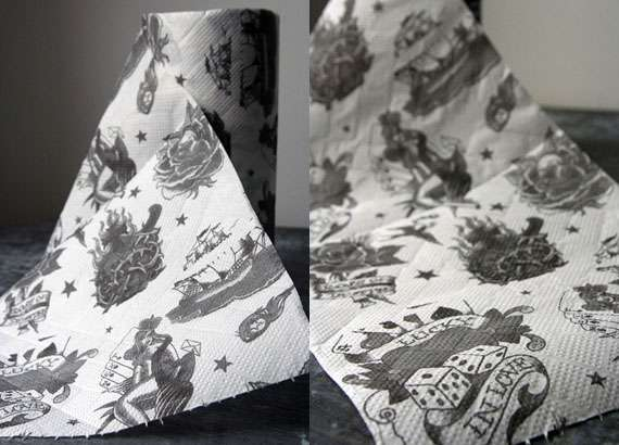 Traditional Tattoo Kitchen Roll