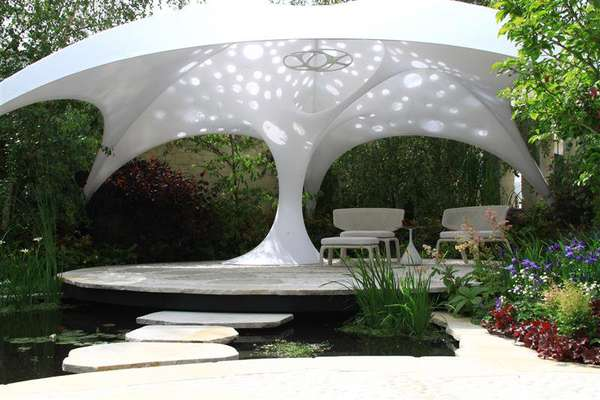 Umbrella-Inspired Gardens
