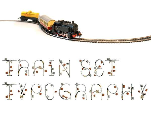 Train Set Typography