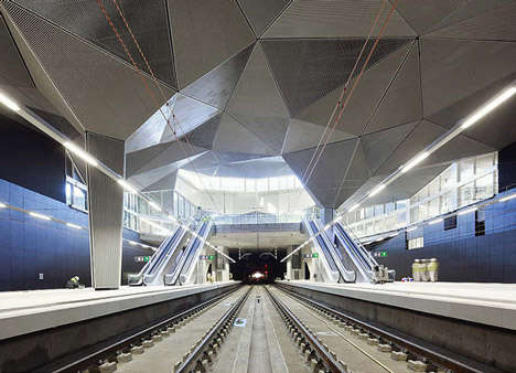 Train Station Design By Abalos Sen iewicz Arquitectos on metro concept