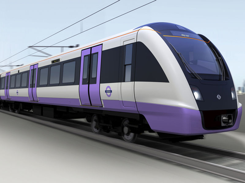Colorfully Modern Trains