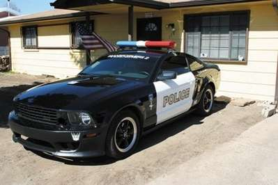 Faux Police Cruisers Real Transformer Mustang In Vegas