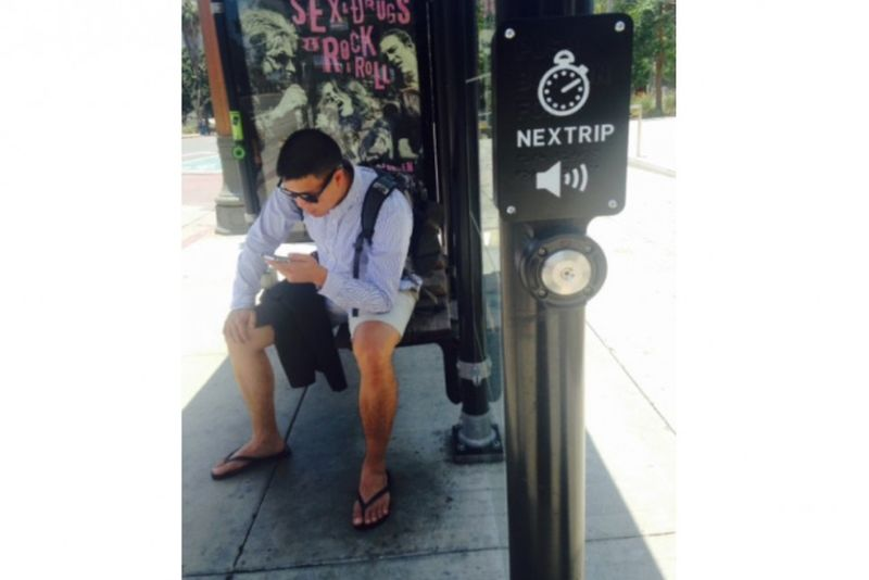 Smartphone-Integrated Bus Shelters