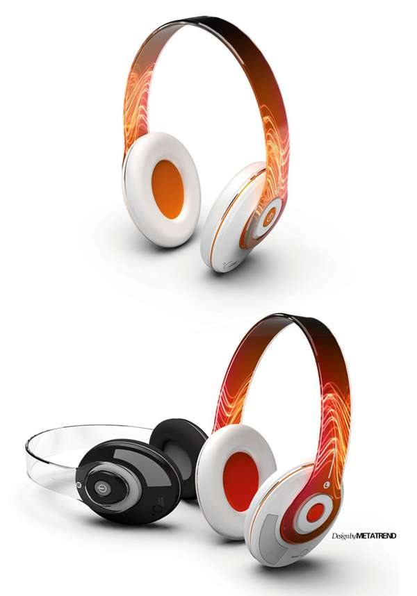 Transparent OLED Headphones