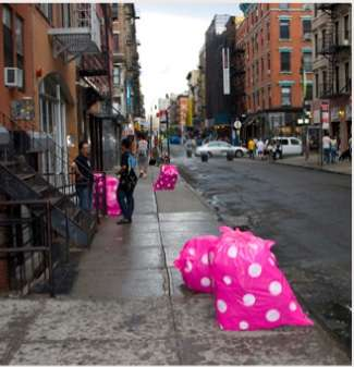 Polka-Dotted Trash Bags