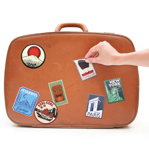 Neo Vintage Luggage Decals Travel Suitcase Stickers
