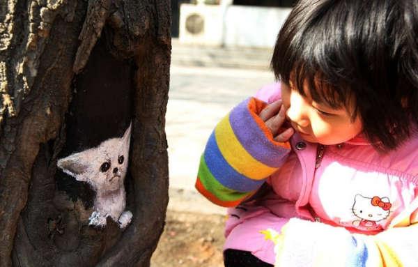 Urban Tree Hole Art
