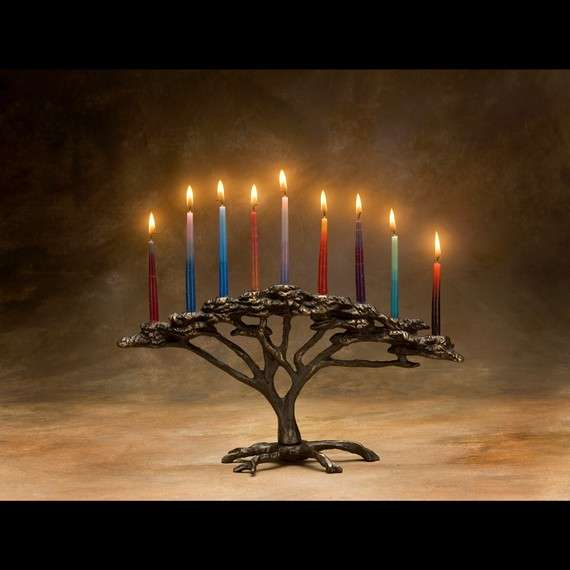 Nature-Infused Menorahs