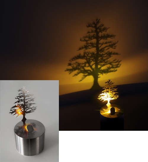 Illuminated Foliage Silhouettes : Tree Shadow Projector