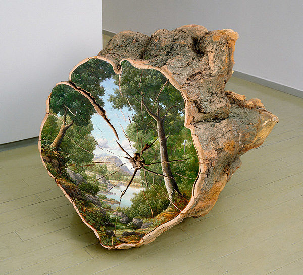 Woodland Log Paintings