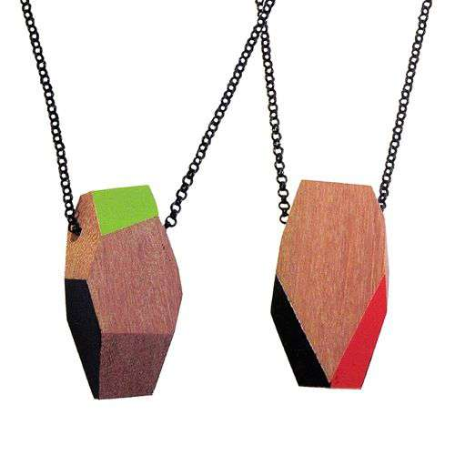 Geometric Wooden Necklaces