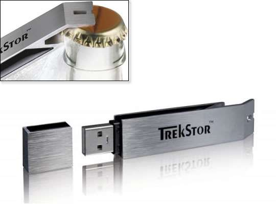 usb bottle openers the trekstor thumb drive. Black Bedroom Furniture Sets. Home Design Ideas