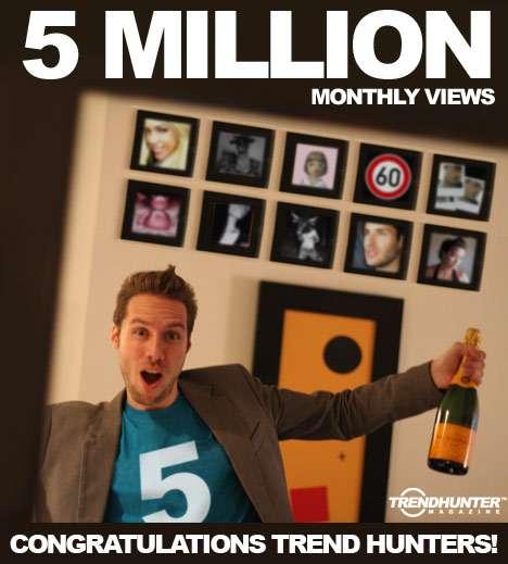Trend Hunter Reaches 5 Million Views / Month